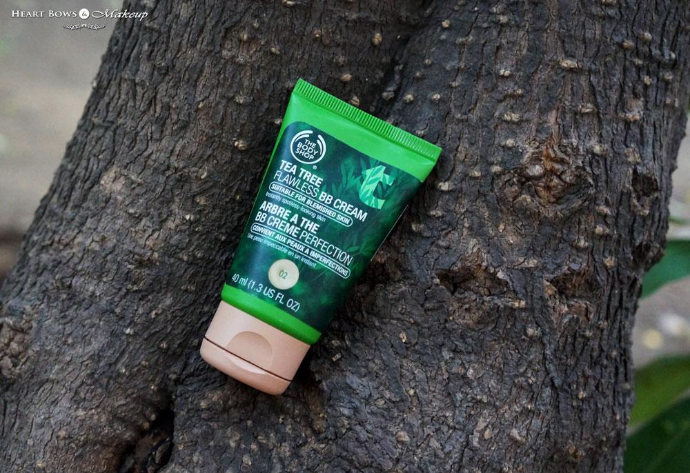 The Body Shop Tea Tree BB Cream 02 Review, Swatches & Price India