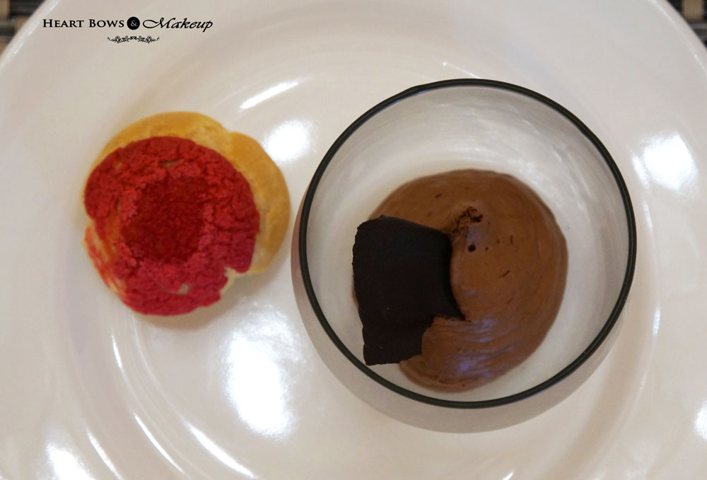 Ssence Restaurant Review: Raspberry Profiterole & Chocolate Mousse
