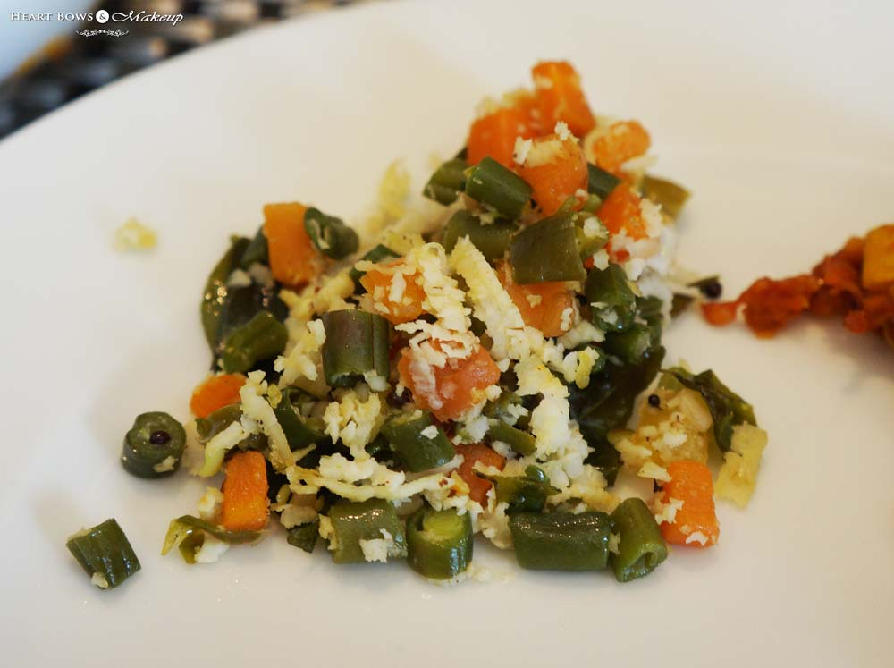 Carrot and Beans Poriyal :Vege-Licious Extravaganza at Ssence, The Suryaa