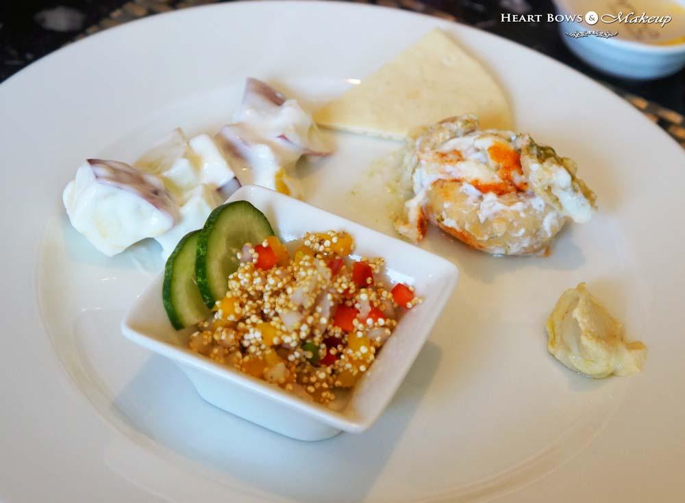 Quinoa Salad, Pita Bread with Hummus, Dahi Bhalla & Waldorf Salad - Vege-Licious Extravaganza at Ssence