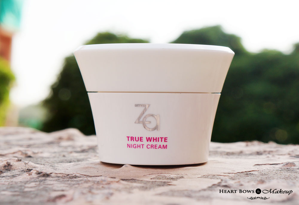 ZA True White Night Cream Review