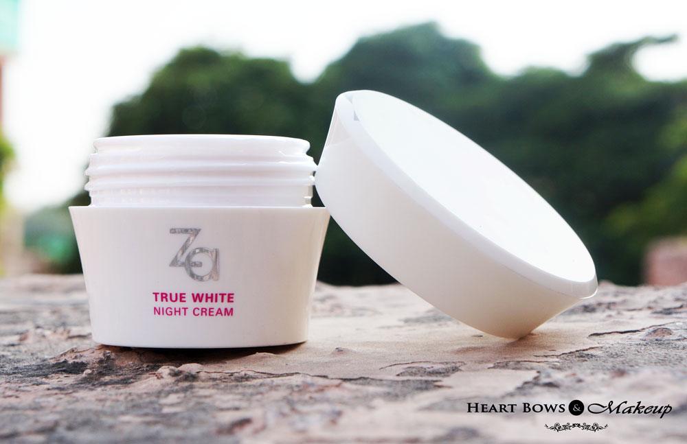 ZA True White Night Cream Review: Best Nigh Cream For Combination-Oily Skin