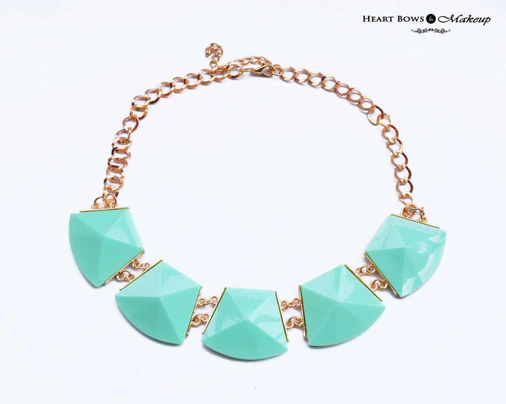 ZOTIQQ Fashionista September Jewellery Box Review: Mint Statement Necklace