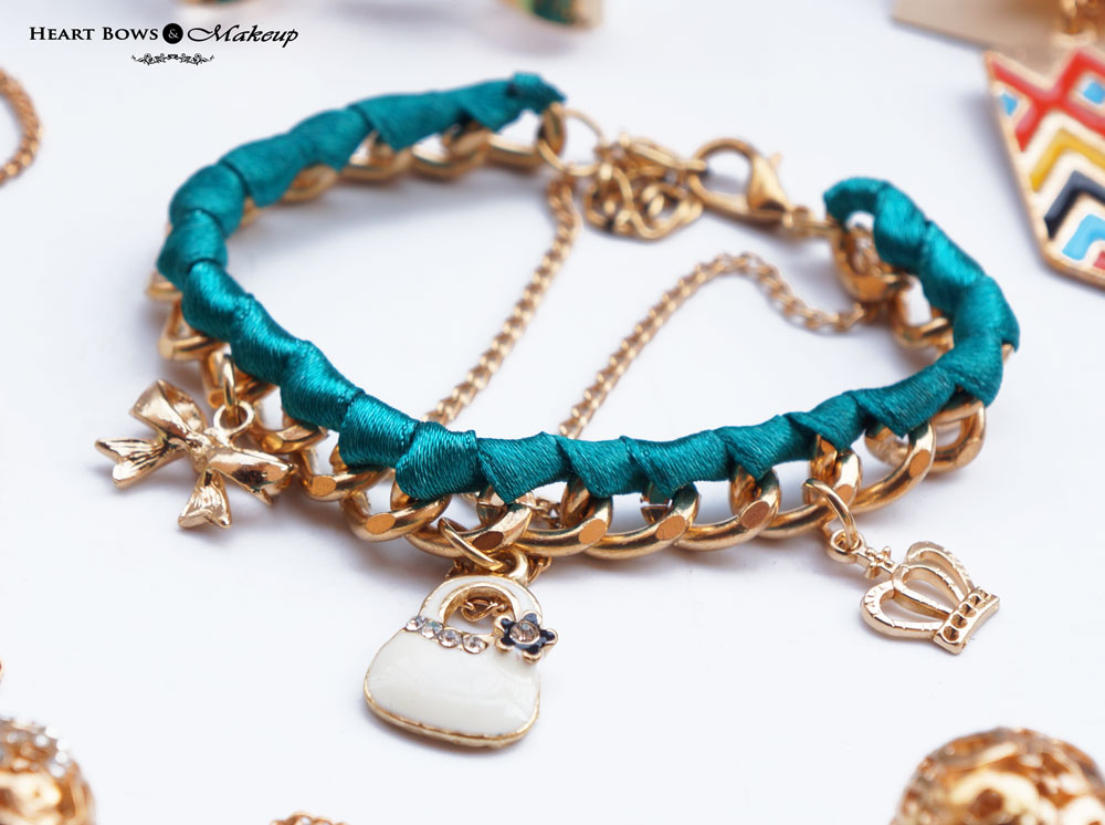 ZOTIQQ Fashionista September Jewellery Box Review: Green Charm Bracelet