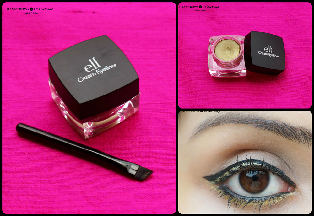 Elf Cream Eyeliner Golden Review Amp Swatches Heart Bows