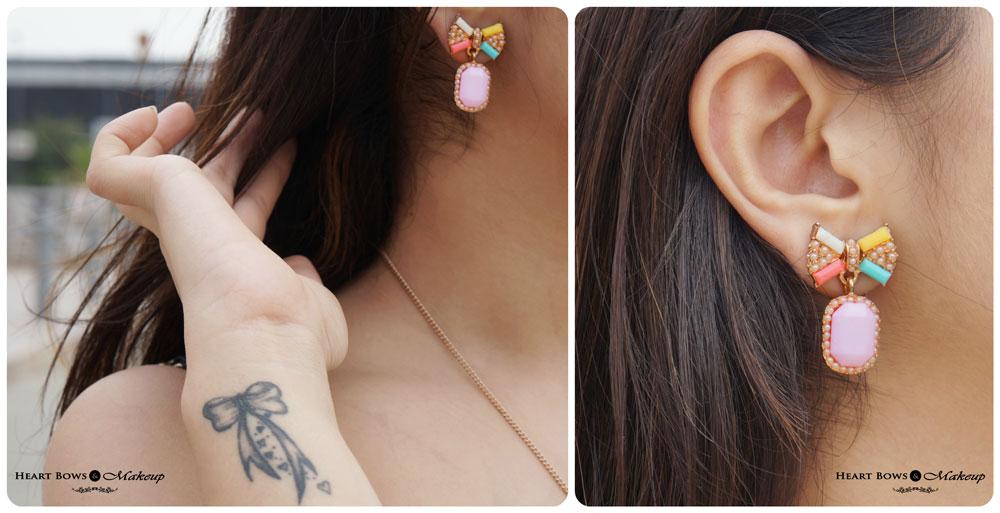 Delhi Fashion & Beauty Blog: Cute Bow earrings by DressLily