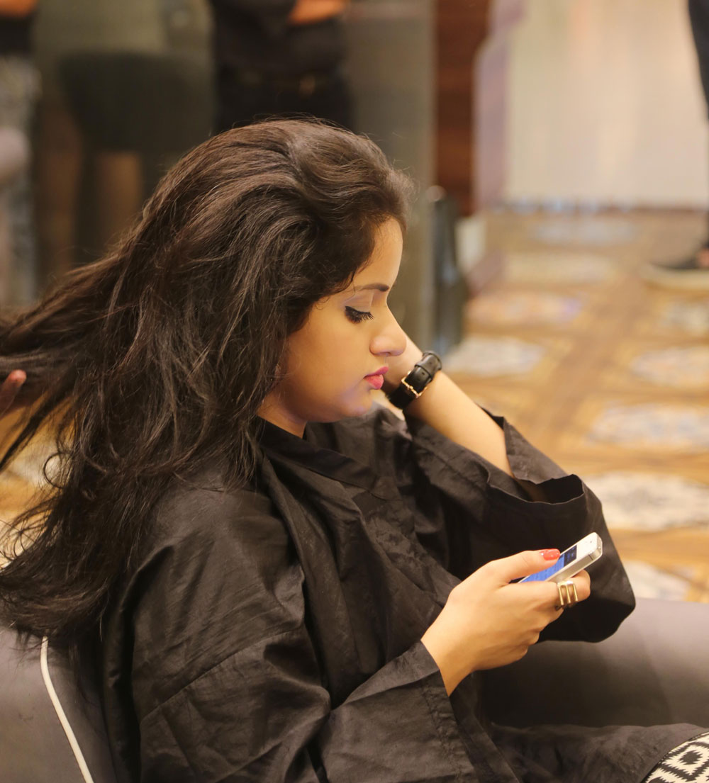Busy Instagramming at Geetanjali Salon!