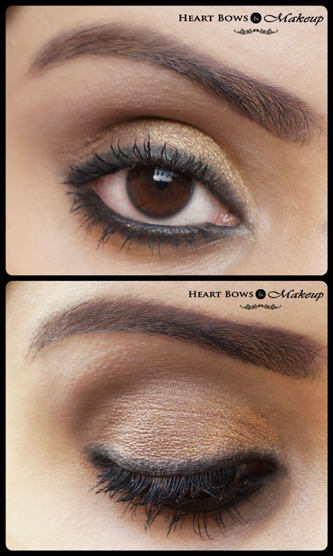 Gold Smokey Eye Makeup Tutorial: Diwali Special! - Heart ...