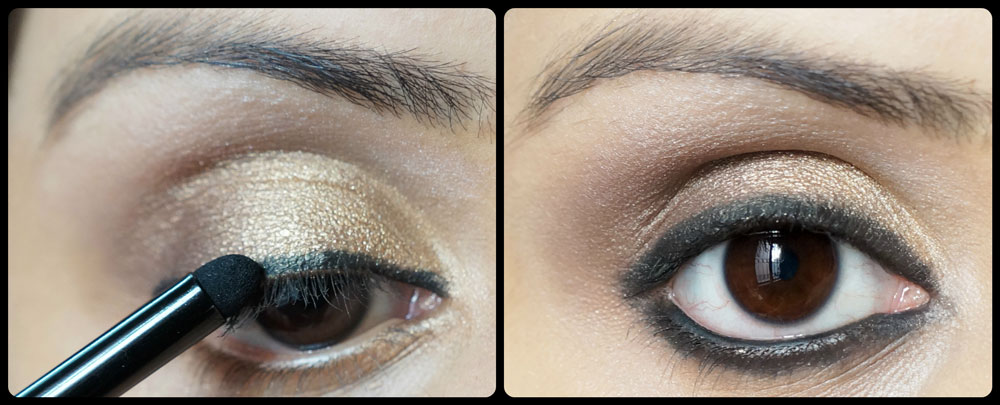 Beautiful Gold Smoky Eye Makeup Tutorial