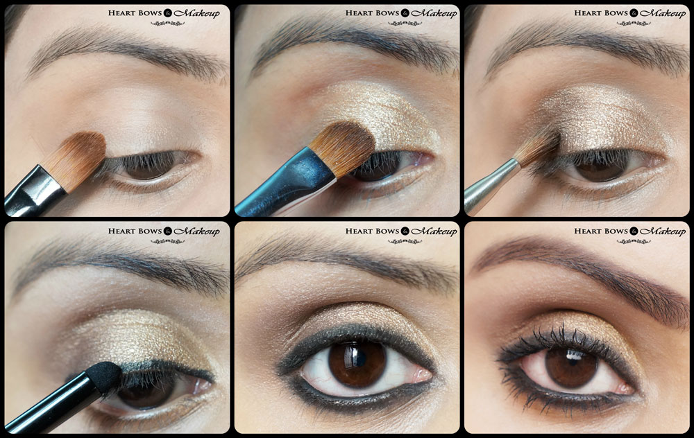 Gold Smokey Eye Makeup Tutorial Diwali Special Heart