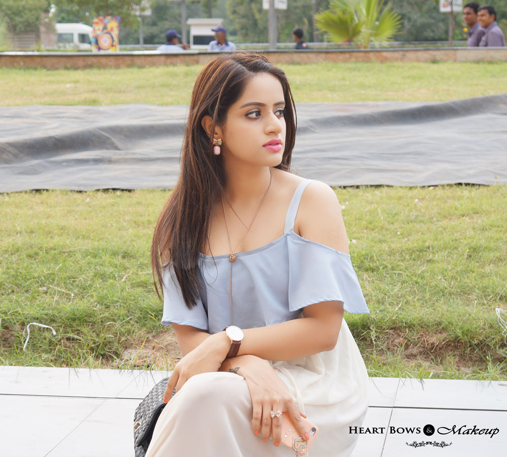 Indian Beauty & Fashion Blog: Casual OOTD feat Off Shoulder Butterfly Sleeves Maxi Dress