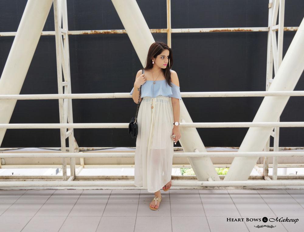Indian Fashion Blog- OOTD feat Sammydress Maxi Dress, Daniel Wellington St Andrews Watch & Zotiqq Accessories