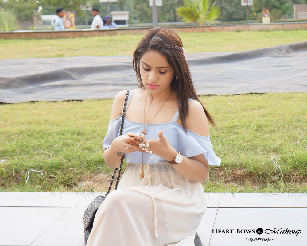 Indian Makeup & Beauty Blog: Side Braided Hair With Winged Eyeliner & Pink Lips