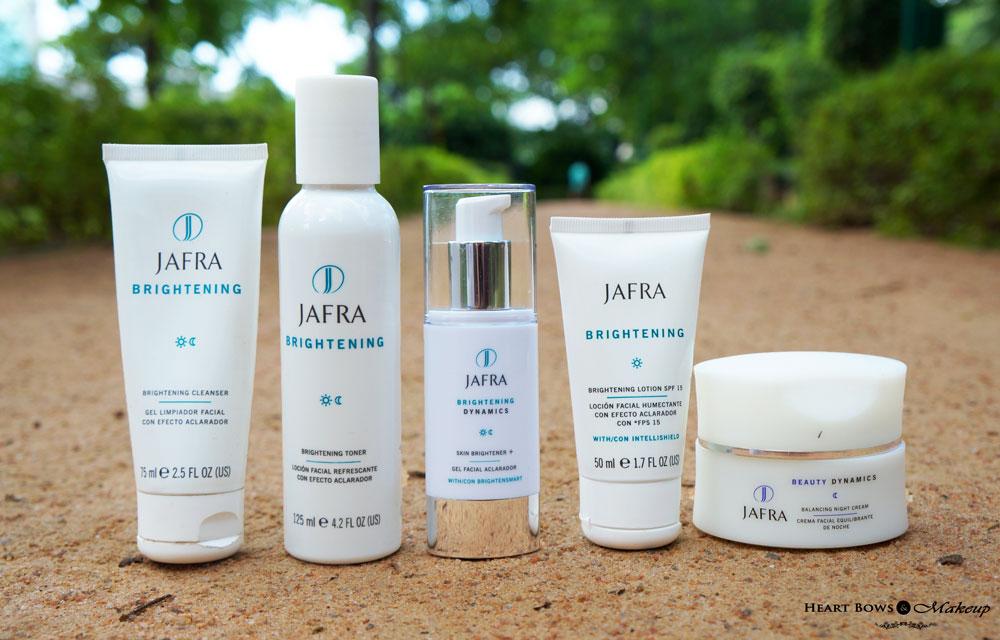 JAFRA Brightening Cleanser, Toner, Skin Brightener & Beauty Dynamic Balancing Night Cream Review Price, Buy Online India