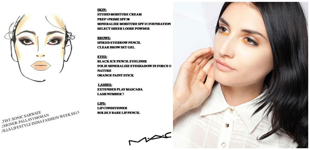 WIFW 2015 Makeup Trends: Pallavi Mohan MAC Face Chart