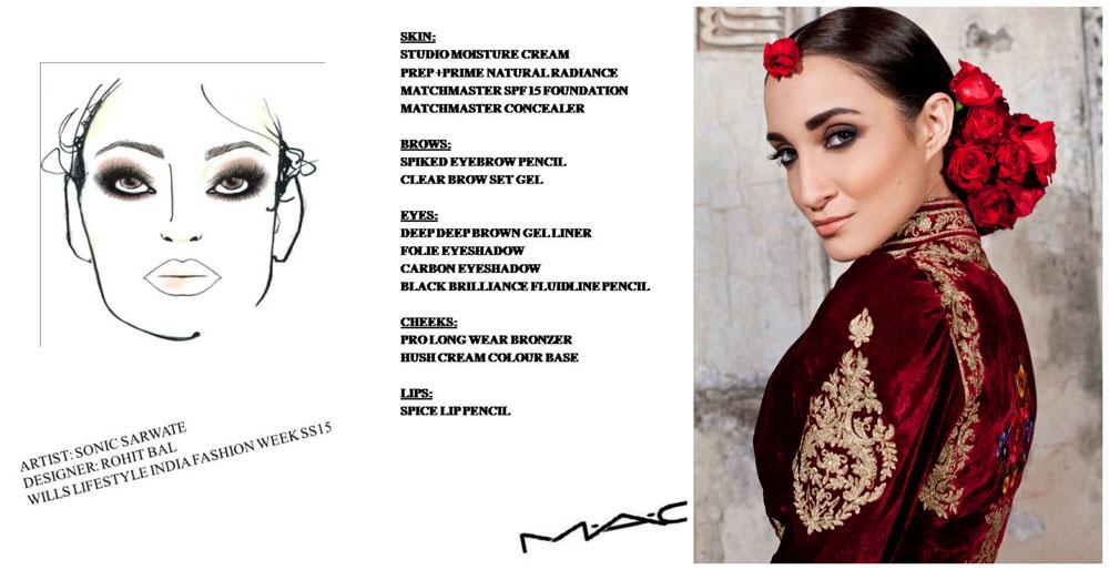 WIFW 2015 Makeup Breakdown: Rohit Bal Gulbagh MAC Face Chart