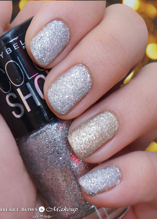 Maybelline Glitter Mania Nail Polish Dazzling Diva Swatches, NOTD & Review