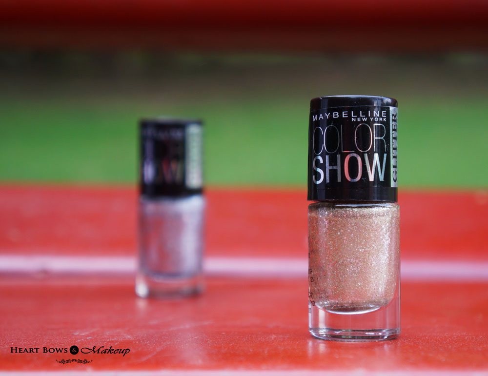 Maybelline Color Show Glitter Mania Nail Polish 601 All That Glitters Review, Swatches & Buy Online India