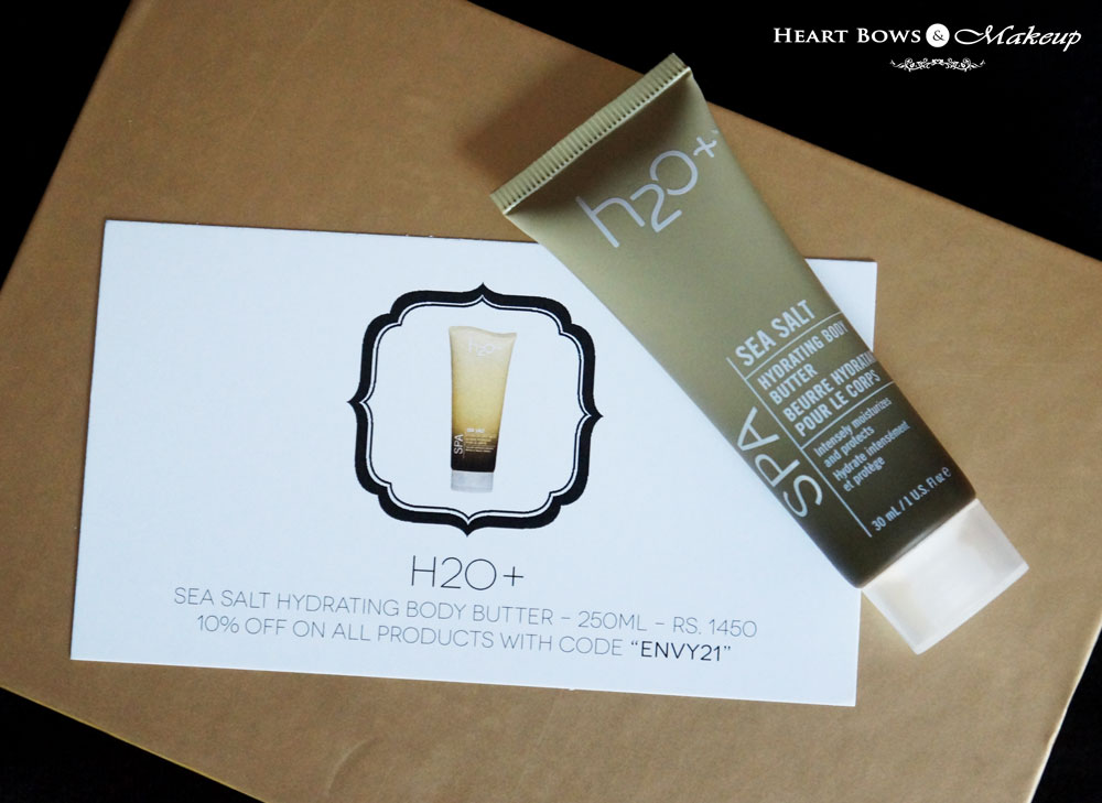 My Envy Box October Products: H20+ Sea Salt Hydrating Body Butter