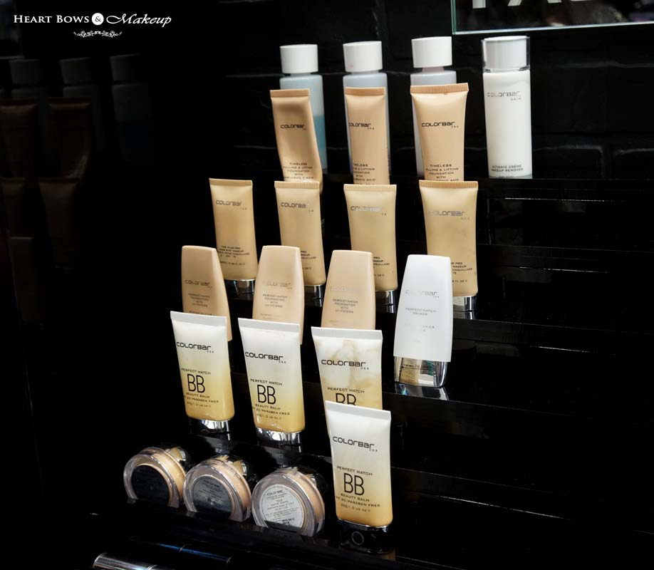 Colorbar Foundations at Khan Market Store