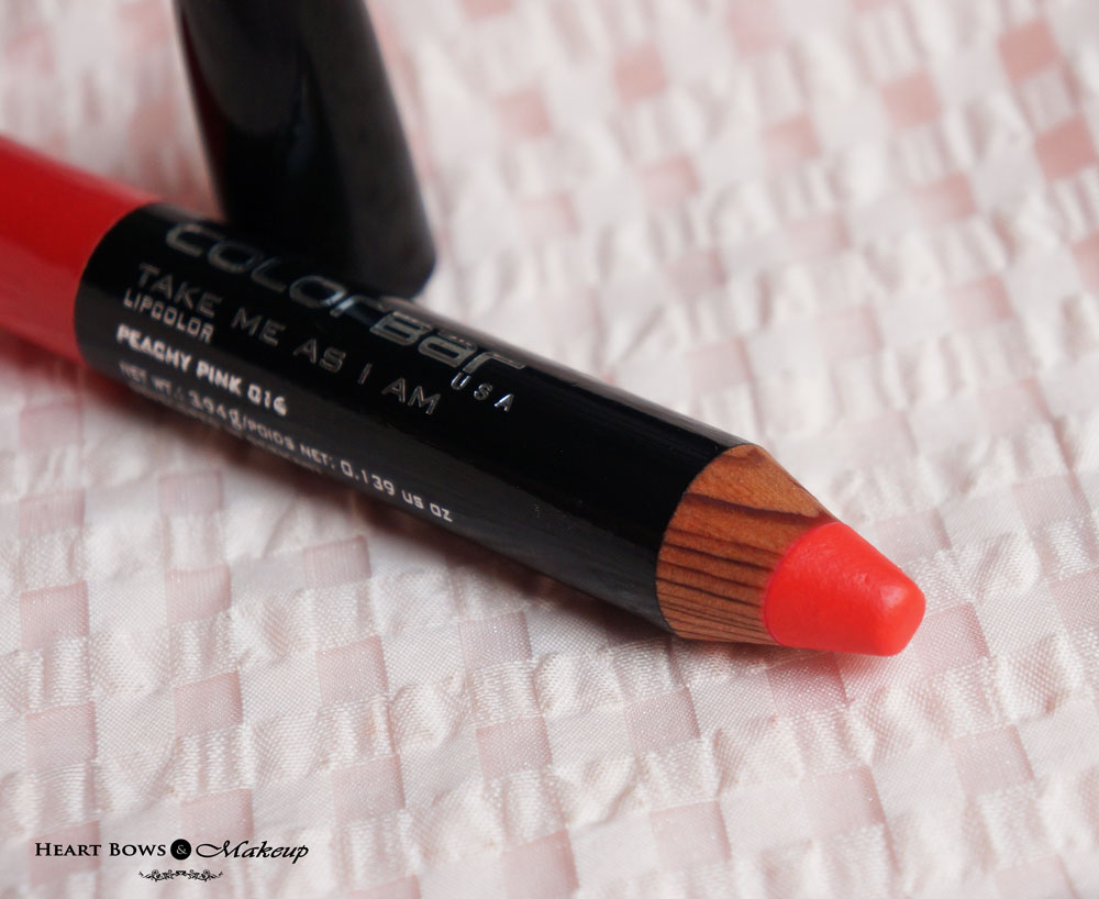 Colorbar Take Me As I Am Lip Color Peachy Pink Review: Best Orange-Red Lipstick India