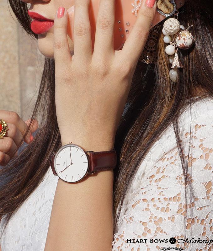 Delhi Fashion Blog; Daniel Wellington Classic St Andrews Watch