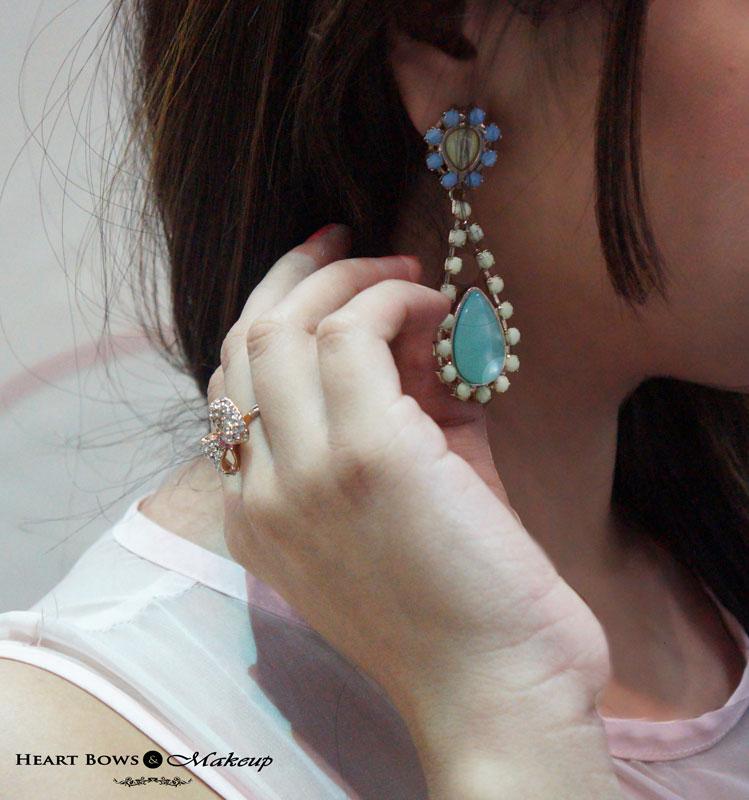 Delhi Fashion Blogger: Zotiqq Bow Ring & Addons Earrings