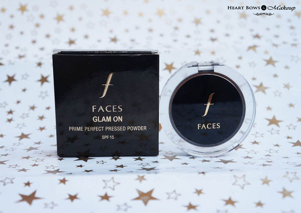 Faces Canada Glam On Prime Perfect Pressed Powder 01 Ivory Review, Swatches & Price India