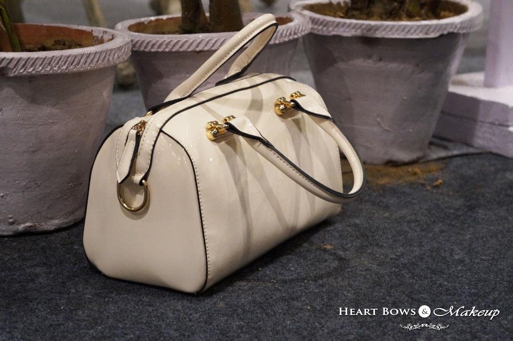 Indian Lifestyle Blog: Milanoo Cream Handbag