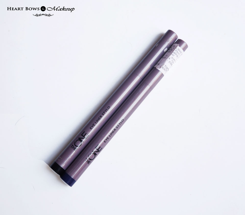 Oriflame The ONE Eye Liner Stylo Black & Blue Review, Swatches & Price India
