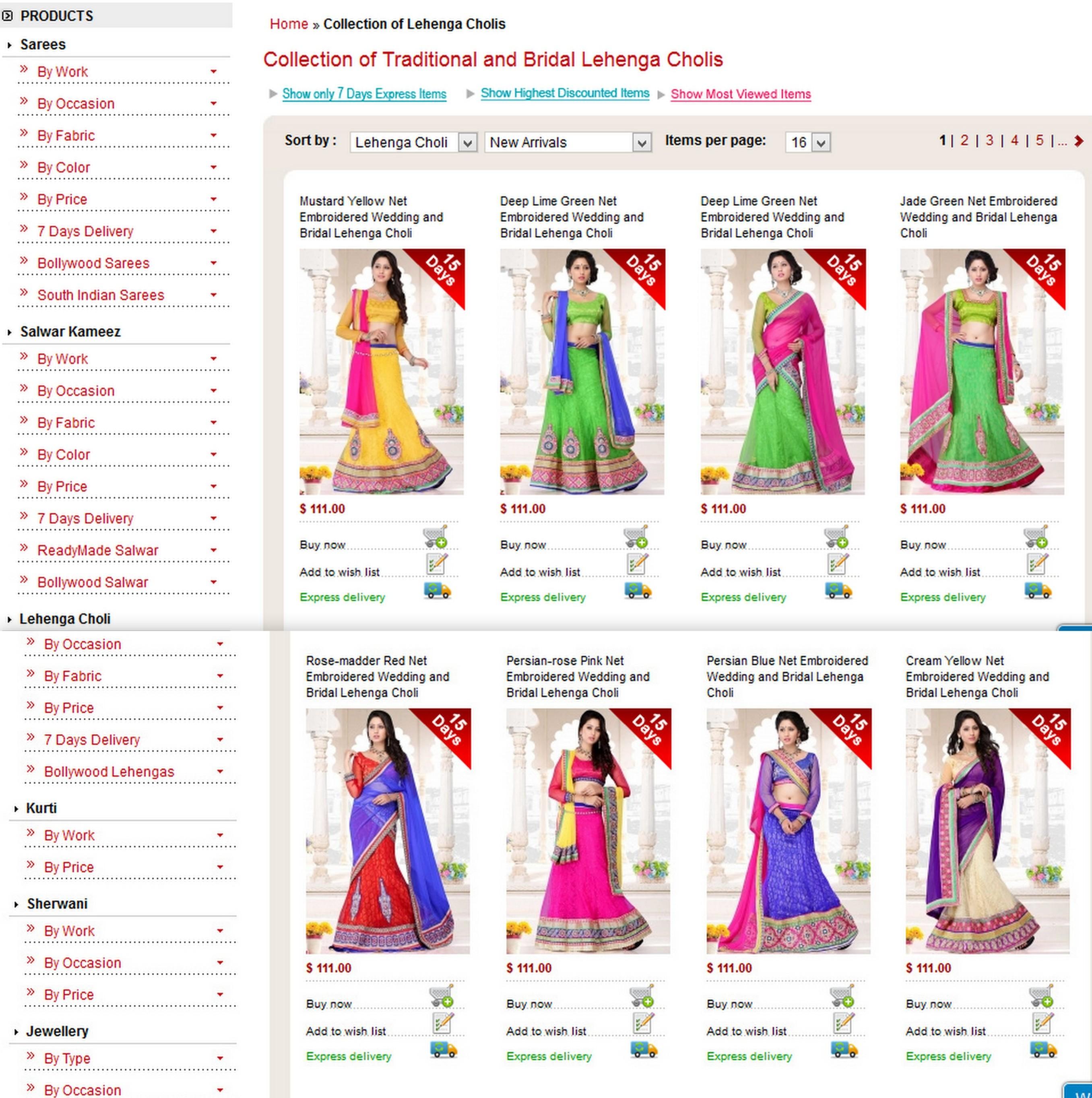 Sareez.com Website Review & Lehenga Collection
