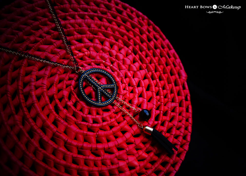 Peace Chain Necklace: Fashionable Jewellery Online India