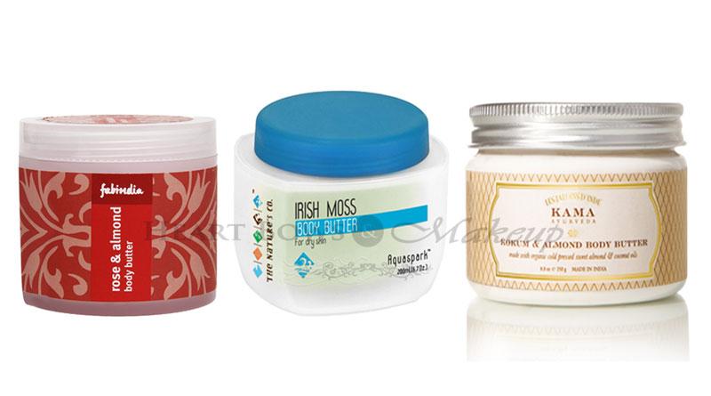 Best Body Butters in India: Fabindia Rose & Almond, The Nature's Co Irish Moss & Kama Ayurveda Kokum & Almond Body Butter