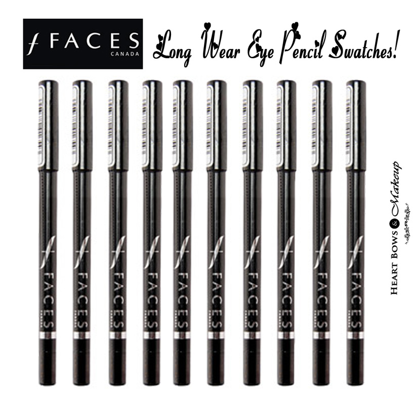 Faces Canada Long Wear Eye Pencil Review, Swatches, Price & Buy Online India