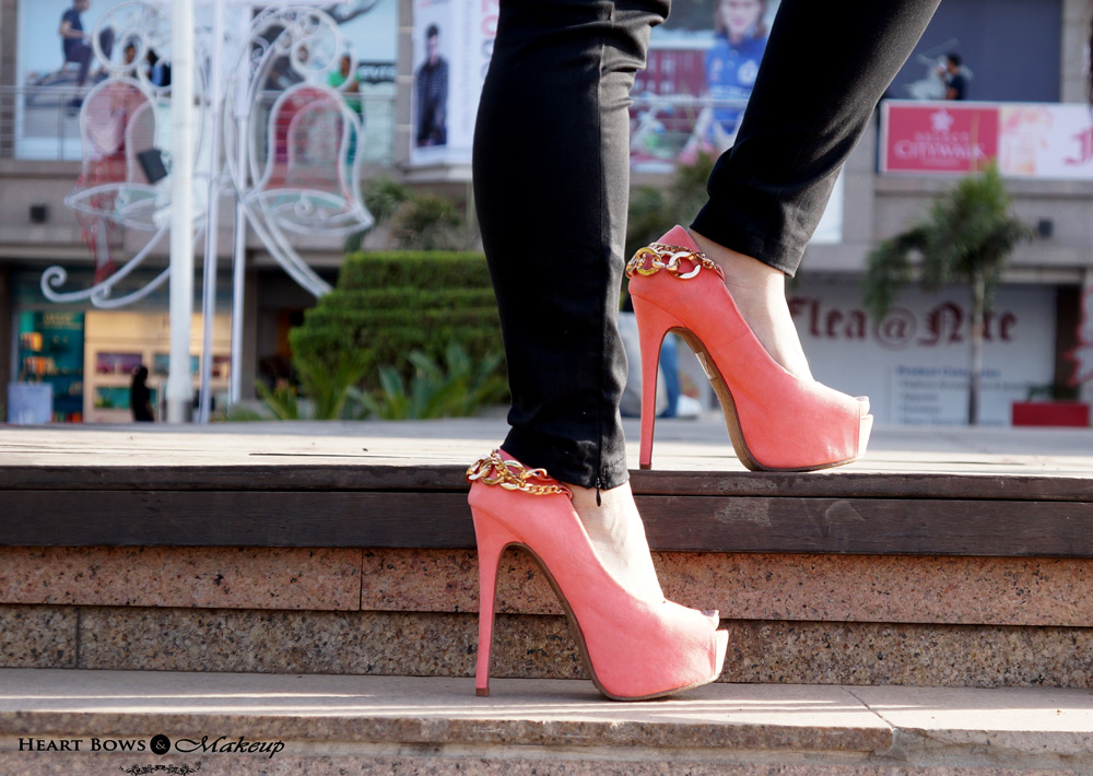 Amiclubwear Sexy High Coral Heels