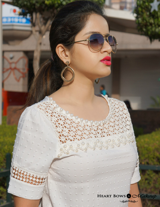 Indian Beauty & Makeup Blog: Statement Earrings, Aviators & Bold Lips
