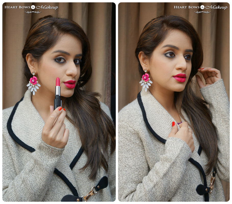 L'Oreal Infallible Lipstick Forever Fuchsia Review, Swatches on Indian Skin & FOTD
