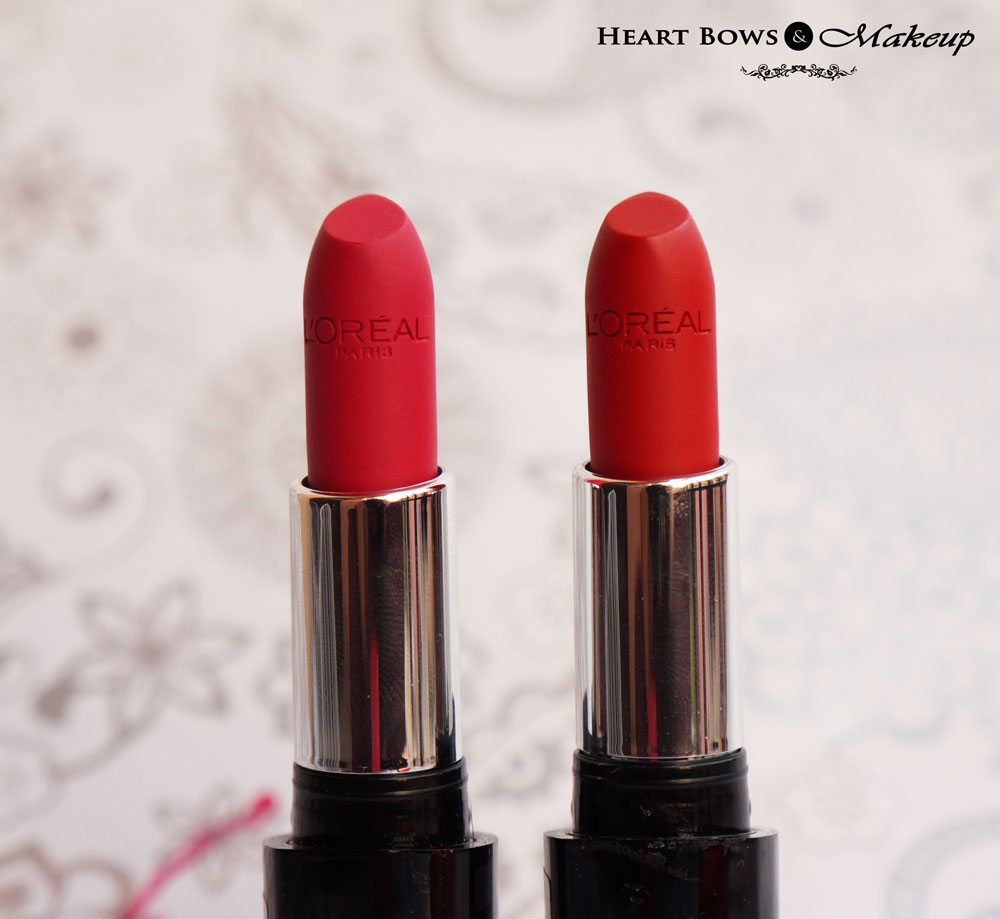 L'Oreal Infallible Ravishing Red & Forever Fuchsia Lipstick Review & Swatches