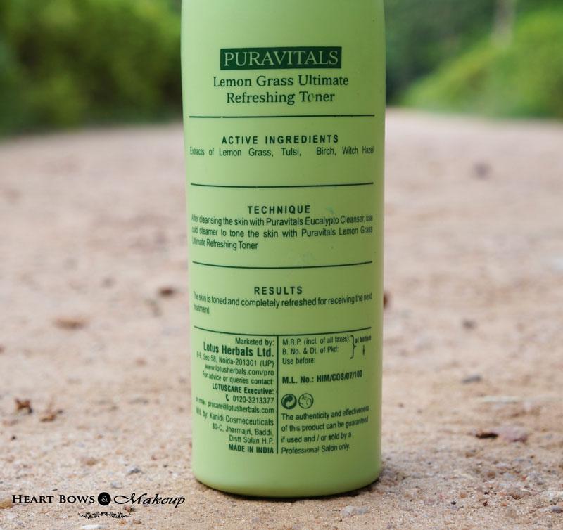 Lotus Herbals Professional Toner Review, Price & Buy Online India