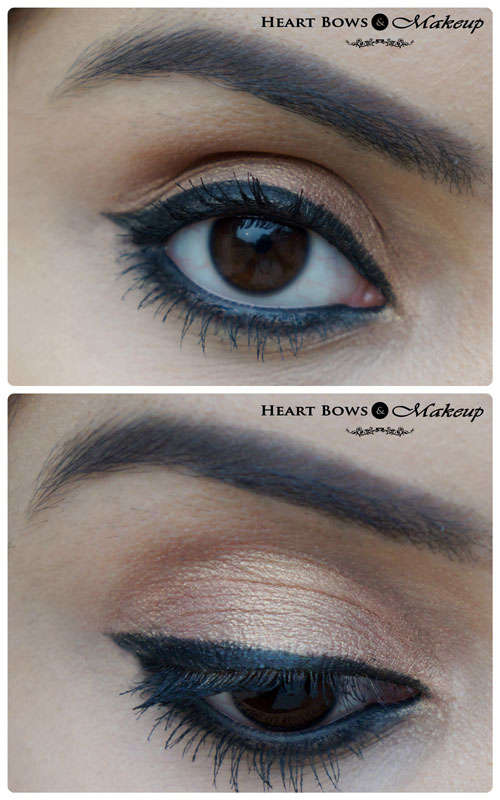 Maybelline Eye Studio Gel Eye Liner Black Swatches, EOTD & Review