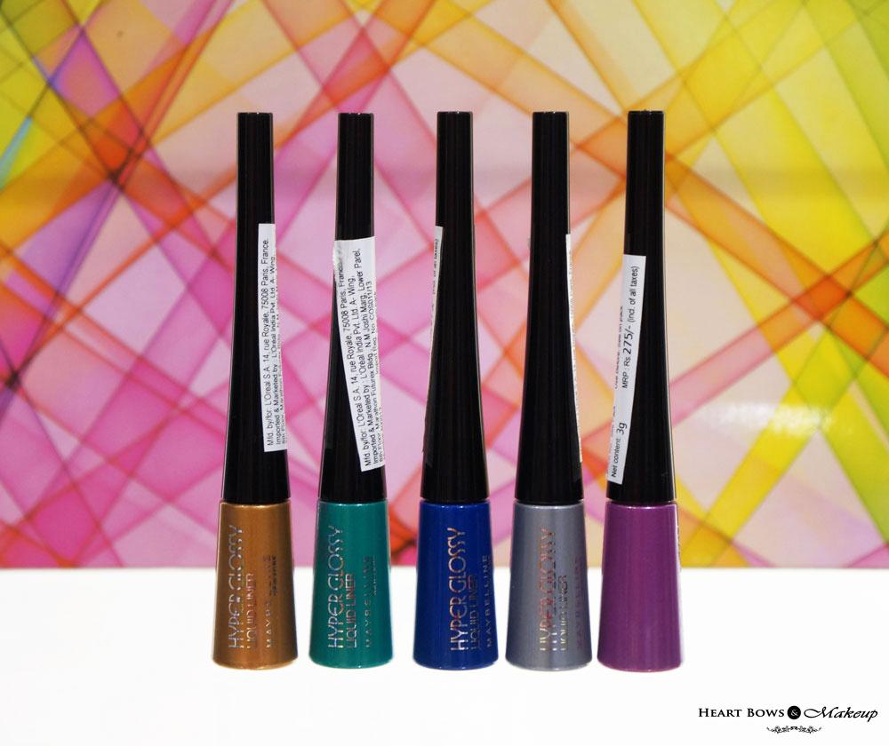 Best Makeup Brands: Maybelline Hyper Glossy Electrics Liquid Eyeliner