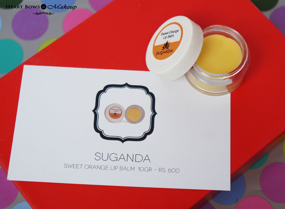 My Envy Box December Products: Suganda Sweet Orange Lip Balm