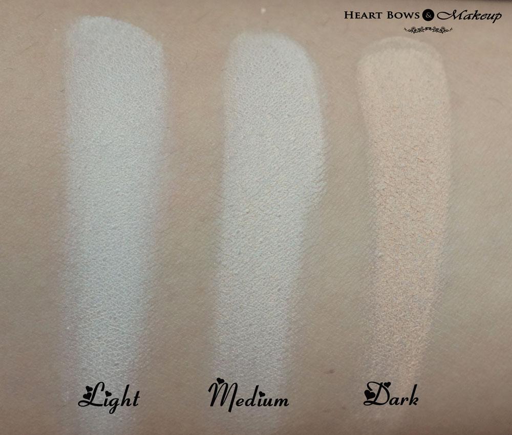 Oriflame The ONE Illuskin Powder Swatches & Review - Light, Medium & Dark