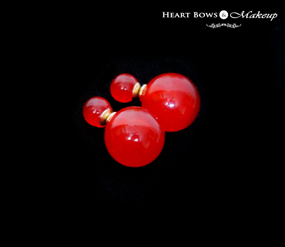 Zotiqq December Jewellery Box: Double Ball Earrings in India