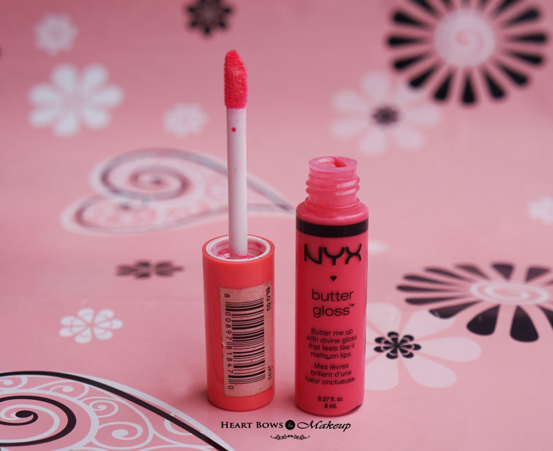 Best Affordable Lipgloss in India: NYX Butter Gloss Peaches & Cream Review