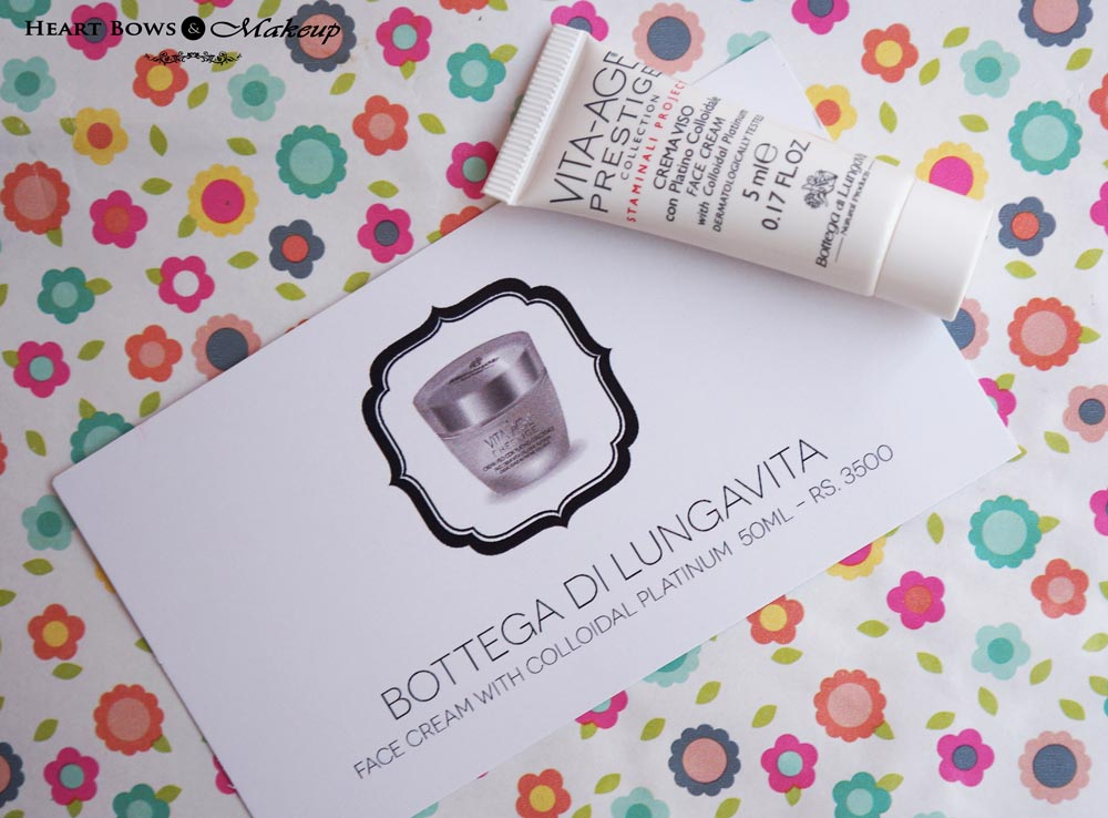 My Envy Box January 2015 Review & Products: Bottega di Lungavita Face Cream with Colloidal Platinum