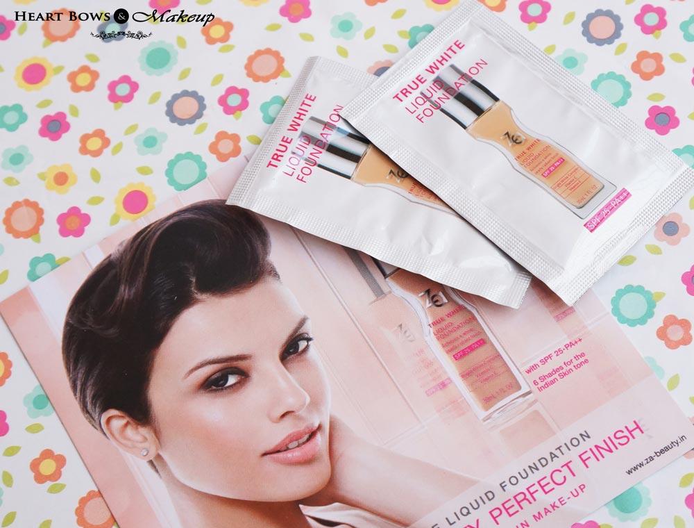 January My Envy Box Products & Review: ZA True White Liquid Foundation