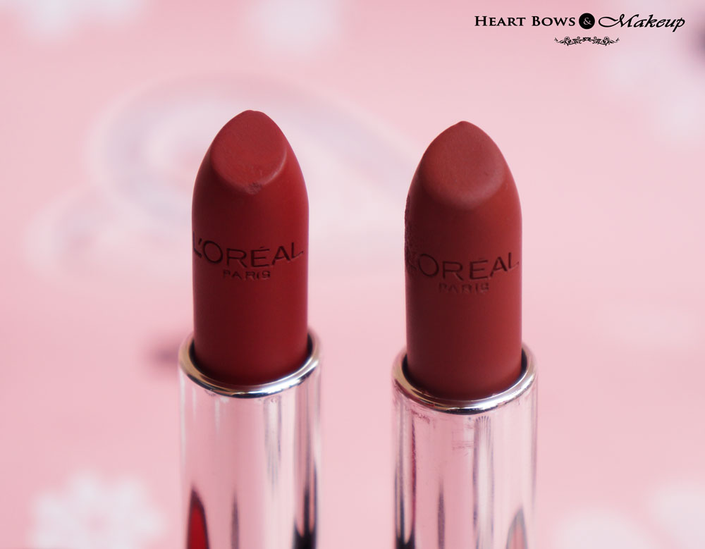 L'Oreal Infallible Le Rouge Lipstick Persistent Plum & Resilient Raisin Review & Swatches