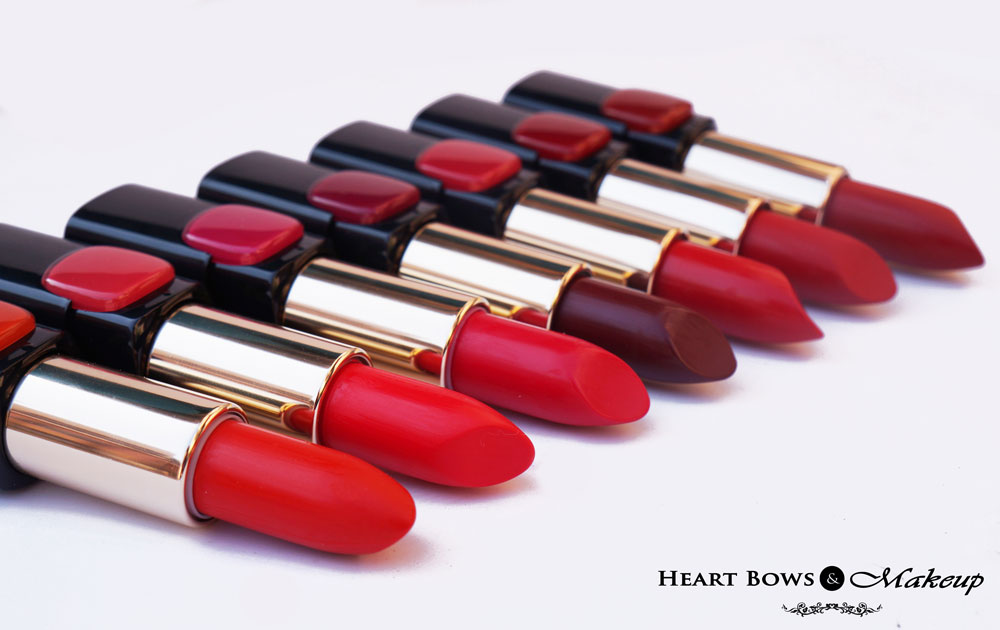 L'Oreal Collection Star Red Lipsticks Review, Swatches ...