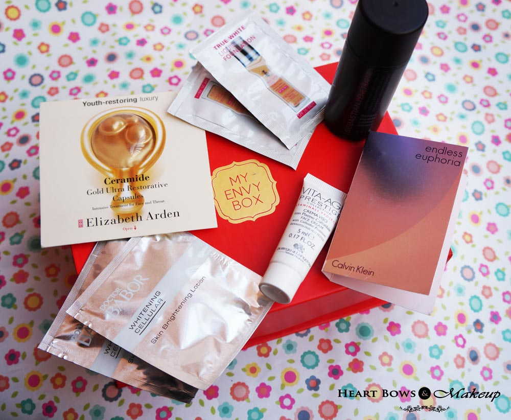 My Envy Box January 2015 Review, Products & Buy Online India